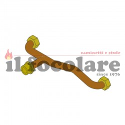 WATER RETURN PIPE IN THE BOILER COMPACT 14 RED 41501302000