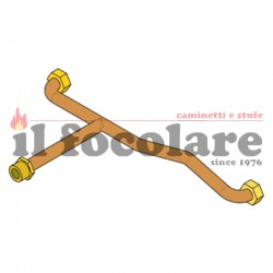 COMPACT RED HEATING RETURN CONNECTION PIPE 41501200900