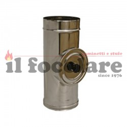 T 90 ° with stainless steel cap DIAM. 80