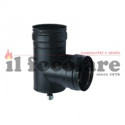 TA 90 ° WITH CONDENSATE DRAIN D.80