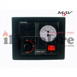 V2S electronic control unit for water thermo fireplace