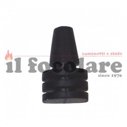 Anti-vibration rubber with three fins