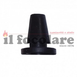 Antivibration rubber with one fin